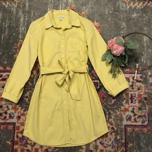 J.Jill pale yellow shirt dress XXSP